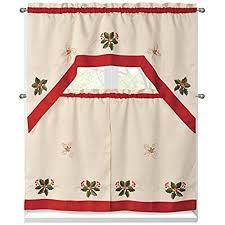 Amazon Prime Kitchen Curtains by Kitchen Christmas Curtains Amazon Com