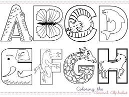 Sheets Animal Alphabet Coloring Pages 29 On Print With