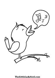 Singing Bird Coloring Page