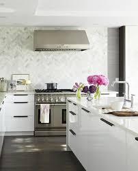 marble chevron tile backsplash design ideas