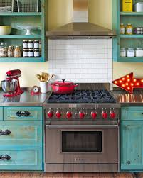 Retro Vintage Red And Turquoise Kitchen Decor