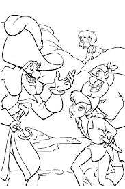 Peter Pan And Disney Tinkerbell Coloring Page