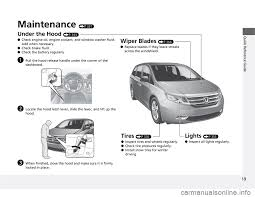 Malfunction Indicator Lamp Honda Odyssey by Tire Pressure Honda Odyssey 2012 Rb3 Rb4 4 G Owners Manual