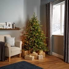6ft Pre Lit Christmas Tree Bq by 6ft Thetford Pre Lit Led Christmas Tree Departments Diy At B U0026q
