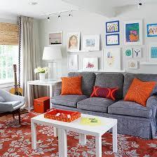 jeux de decoration de salon et de chambre décoration salon gris orange salon salons gris