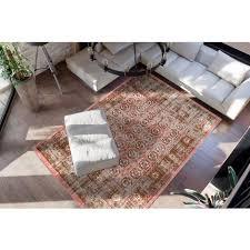 vintage teppich orientalisch ethno wohnzimmer teppiche rot hellrot 80x150cm