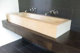 bathroom trough sink with vanity is a perfect combination useful