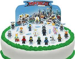 24 x essbare cakeshop dekoration für kuchen tönungsfolie lego ninjago