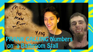 prank calling numbers from a bathroom stall youtube