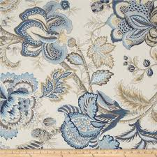 Jacobean Style Floral Curtains by Tempo Jacobean Floral Blue From Fabricdotcom Screen Printed On