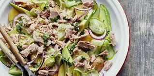 comment cuisiner un concombre salade de concombre au thon facile recette sur cuisine actuelle