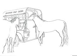 Free Printable Horse Coloring Pages Race Print