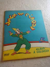 Cu1104 Album à Colorier Cirque 50s Ptit Cochon Pendu Au Plafond
