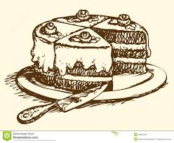 Image result for drawing of slice of cake 358