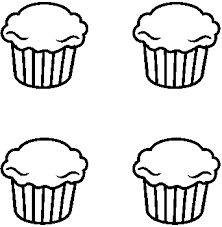 Cupcake black and white cupcake outline clipart black and white