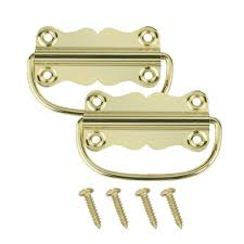 25 Inch Drawer Pulls Home Depot by Everbilt 2 In X 3 1 4 In Bright Brass Chest Handles 19854 The
