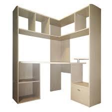 meuble bureau d angle grand bureau d angle pour ordinateur naturel easy les bureaux