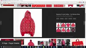 Supreme X Louis Vuitton Hoodie Speed Art