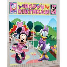 Halloween Scene Setters 2017 by Disney Minnie Mouse Scene Setter Decoration Set Birthdayexpress Com