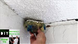 Can You Dry Scrape Popcorn Ceiling by Diy How To Blend Popcorn Texture With A Sponge On A Ceiling