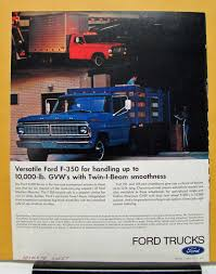 100 Obsolete Ford Truck Parts 1970 S F Series 500 600 700 750 6000 7000 Sales Brochure