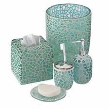 Beach Glass Bath Accessories by Gorgeous Blue Se Glass Bathroom Accessories Sets Adorable Sea