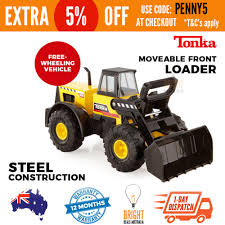 Large Steel Tonka Truck Front Loader Kids Play Sandpit Construction ...