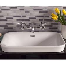 Install Overmount Bathroom Sink by Strom Plumbing Porcelain Drop In Bathroom Sink No Faucet Drillings