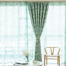 landhausstil gardine mit kokospalme motiv für wohnzimmer