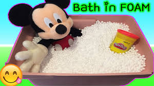 Mickey Mouse Bathroom Images by Mickey Mouse Bath Time In Foam Beans Pretend Play Doll New