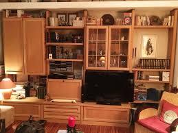 hülsta wohnwand klassisch helles holz wohnzimmer möbel schrank