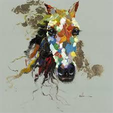 Horse Of An Abstract Color Canvas Artwork 4725x4725 Contemporary