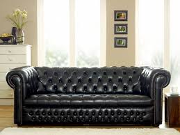 Black Leather Sofa Decorating Ideas by Elegant Black Leather Sofa Design With Nice Texture Design Also