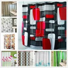 details zu duschvorhang textil bad vorhang badezimmer vorhang inkl ringe180x180cm