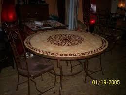 table ronde mosaique fer forge table ronde en mosaiques et pied en fer forge 4 chaises en fer