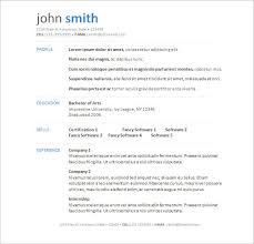 Free Resume Template Word Document 13