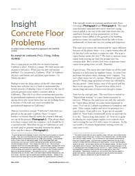 Best Type Of Flooring Over Concrete by Concrete Floor Problems Building Science Corporation