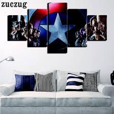 posters prints 5 panels wandmalerei für schlafzimmer