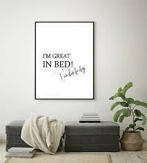 kunstdruck a4 wandbild great bed sleep deko schlafzimmer