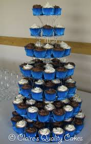 110 Vanilla Chocolate Royal Blue Wedding Cupcakes GBP250 Delivery Stand
