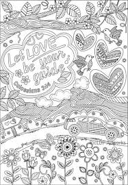 Three Bible Coloring Pages For Grown Ups 3 Posters With Inspiring Verses