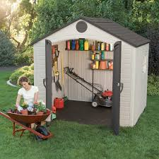 7x7 Shed Home Depot by Amazon Com Lifetime 6411 Outdoor Storage Shed With Window 8 By
