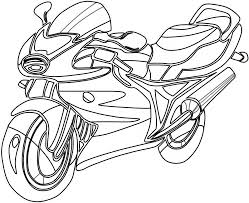Download Coloring Pages Motorcycle Free Printable For Kids To