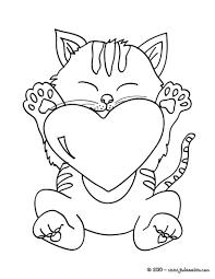Coloriages Coloriage Chaton Avec Coeur à Imprimer Fr 7875 Chaton