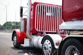 100 Big Truck Chrome Stylish Classic Powerful Red Rig Semi With Vertical