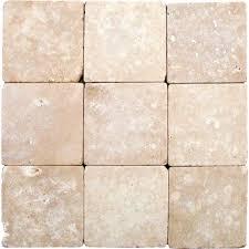 Versailles Tile Pattern Travertine by Ms International Durango 4 In X 4 In Tumbled Travertine Floor