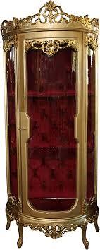 casa padrino barock vitrine gold bordeaux h 205 cm b 86 cm vitrinenschrank wohnzimmerschrank glasvitrine antik look