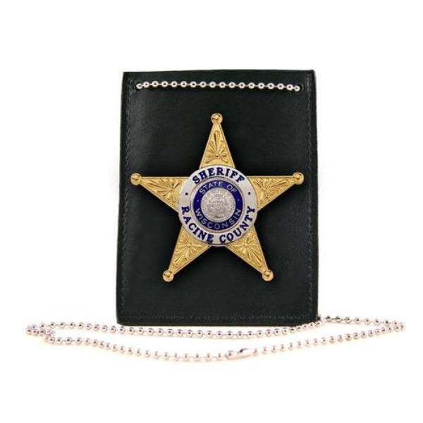 Boston Leather - Neck Chain ID and Badge Holder