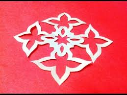 Easy Flower Paper Cutting Patterns How To Make Simple