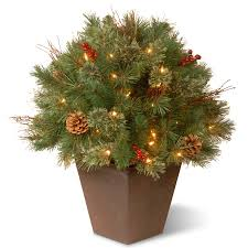 Kmart Small Artificial Christmas Trees by Clear Pre Lit Christmas Tree Kmart Com Glistening Pine Porch Bush